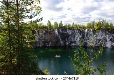 Famous beautiful marble quarry Ruskeala