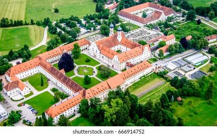 famous benediktbeuern monastery - bavaria - germany