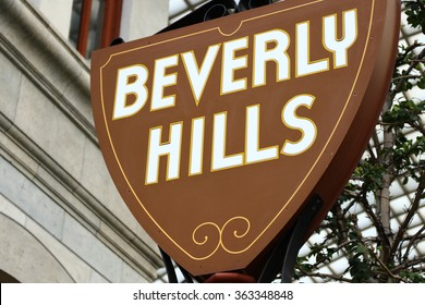 Famous Beverly Hills sign close-up view