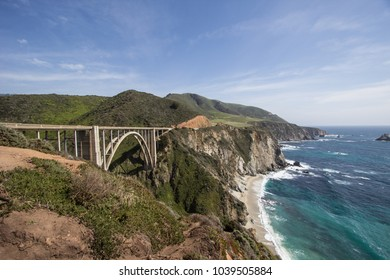 The famous big sur bridge in america