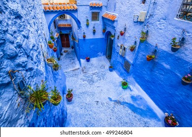 Famous blue city of Chefchaouen, Morocco.