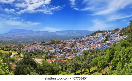 The famous blue city of Chefchaouen in northern Morocco.