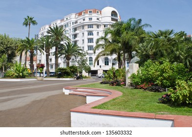 The famous Boulevard de la Croisette in Cannes, France