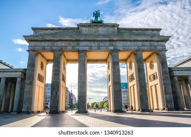 Famous Brandenburg Gate, Berlin, Germany