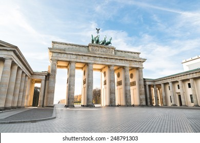 The Famous Brandenburg Gate In Berlin. Germany