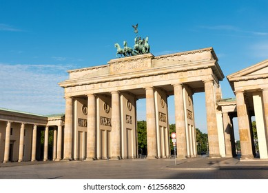 The famous Brandenburger Tor in Berlin on a sunny day