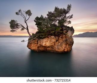 The Famous Brela Rock in the Evening, Brela, Croatia