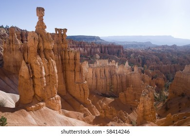 The famous brice canyon national park in utah