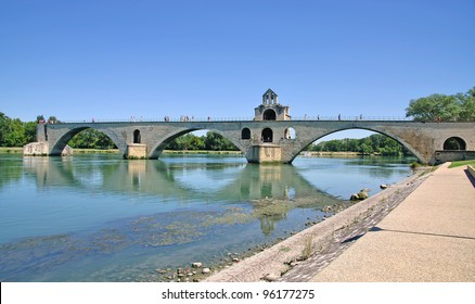 the famous Bridge of Avignon,Provence,France