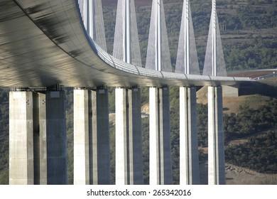 famous bridge over the Tarn at Millau,Languedoc,France. taken 24/03/2007