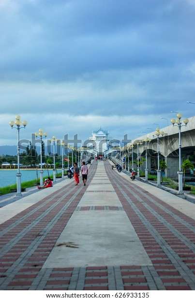 Famous Bridge in Phuket Thailand