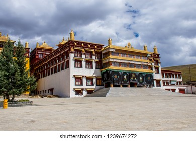Famous Buddhist Litang Monastery in Litang town in Kham (Eastern Tibet), Sichuan province, China.