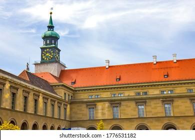 Bâtiment de résidence célèbre à Munich, Allemagne