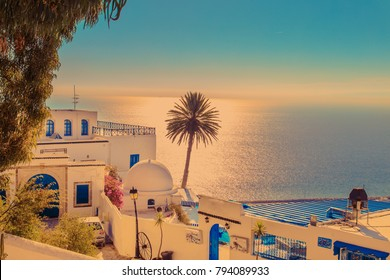 The famous cafe in Sidi Bou Said. Eastern fairy tale with a French charm.