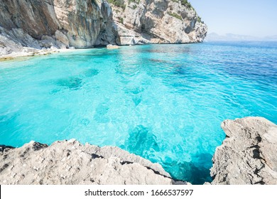 Famous Cala Mariolu at Gulf of Orosei in Sardinia, Italy