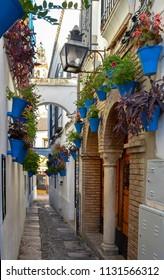 The famous Calleja de las Flores (Flower Street) in Cordoba, Spain