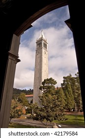 The famous Campanile Clock Tower at the University of California at Berkeley - a major public university