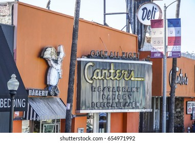 Famous Canters Restaurant and Bakery in Los Angeles - LOS ANGELES / CALIFORNIA - APRIL 20, 2017