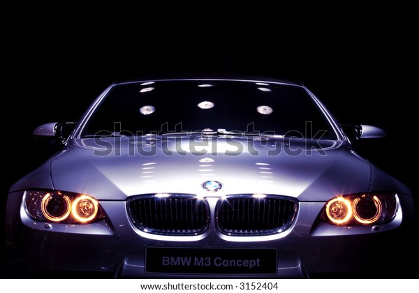 Famous Car on Display with Black Background