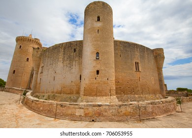 "Famous ""Castell de Bellver"" in Palma de Mallorca, Spain"