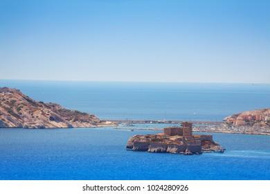 Famous If castle, Chateau d'If, Marseille, France