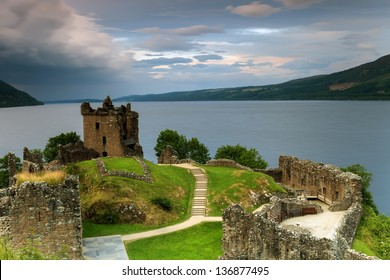 Famous castle of Loch Ness