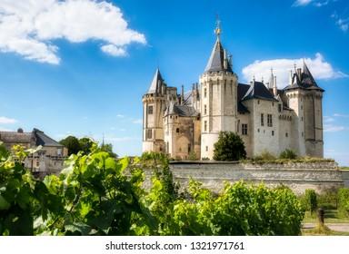 The Famous Castle of Saumur, Loire Valley, France