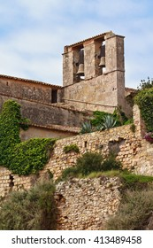 The famous castle of Tamarit an aristocratic house placed over a cliff in the coast of Tarragona, Spain