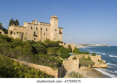 The famous castle of Tamarit an aristocratic house placed over a cliff in the mediterranean coast of Tarragona, Spain