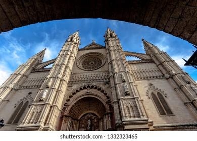 Famous Cathedral La Seu in Palma de Mallorca
