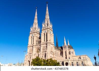 The famous cathedral of Lujan in the province of Buenos Aires, Argentina
