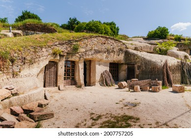 Famous cave flats In Noszvaj town near by Eger city in Hungary. This is a public museum.