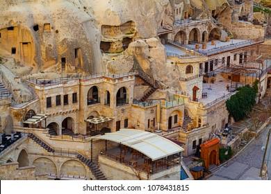 Famous cave hotels in Goreme, Capadokkia