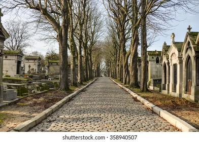 Famous cemetery of Pere Lachaise, Paris, France.