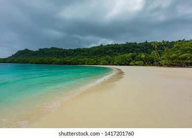 Famous Champagne Beach, Vanuatu, Espiritu Santo island, near Luganville,  South Pacific