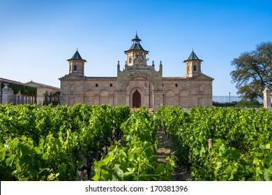 The famous Chateau Cos D'Estournel, Bordeaux Region, France