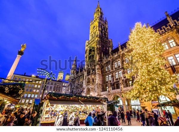 Munich Germany Christmas.Famous Christmas Market Munich Germany Stock Photo Edit Now