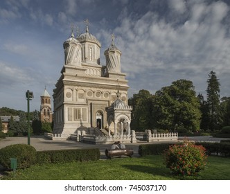 "The famous church of Arges. Known under the name ""Curtea de Arges"". Famous church in Romania."