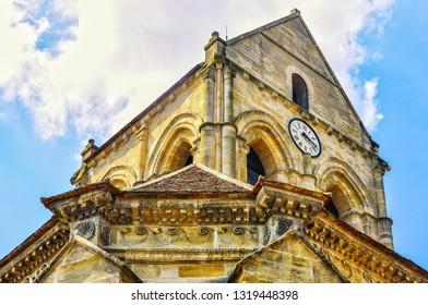 Famous church of Auvers-sur-Oise, France.
