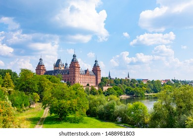 famous city castle in Aschaffenburg, Bavaria, Germany