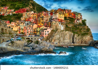 Famous city of Manarola at Cinque terre - Italy