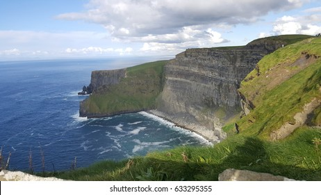 Famous cliffs of Moher in Co. Clare Ireland Europe. Beautiful landscape as natural attraction