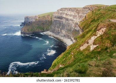 Famous cliffs of Moher in County Clare Ireland Europe. Beautiful landscape natural attraction.