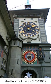 Famous clock tower of Bern, the capital of Switzerland.