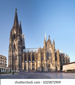 The famous Cologne Cathedral. Square composition stitched from two ultra wide angle long exposure shots.