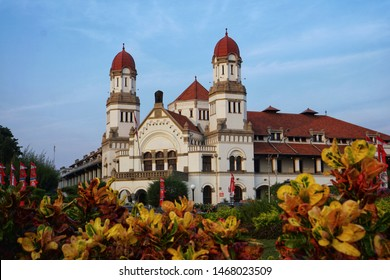 The famous colonial building in Semarang, Indonesia called Lawang Sewu