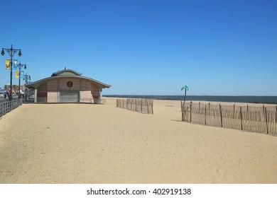 Famous Coney Island Beach in Brooklyn, New York