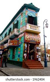 Famous corner of Caminito - La boca district of Buenos Aires