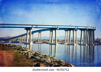 Famous Coronado Bridge in San Diego, California
