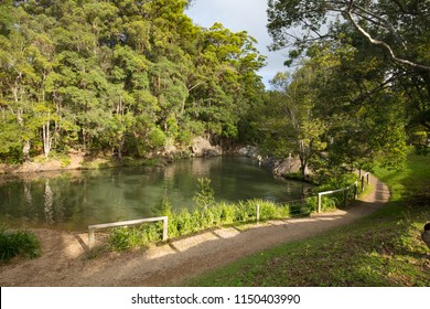 The famous Currumbin Valley Rock Pools near the Gold Coast in Queensland, Australia